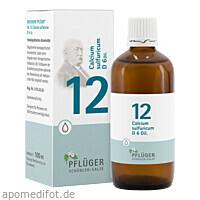 Biochemie Pflüger Nr. 12 Calcium sulfuricum D 6, 100 ML, Homöopathisches Laboratorium Alexander Pflüger GmbH & Co. KG