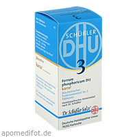 Biochemie DHU 3 Ferrum phosphoricum D12 Karto, 200 ST, Dhu-Arzneimittel GmbH & Co. KG
