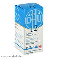 Biochemie DHU 12 Calcium sulfuricum D 6 Karto, 200 ST, Dhu-Arzneimittel GmbH & Co. KG