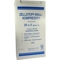 ZELLSTOFF MULLKOMPRESSEN 10CMX20CM STERIL, 25X2 ST, Kerma Verbandstoff GmbH