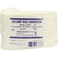 ZELLSTOFF VLIES-KOMPRESSEN 10CMx10M GEROLLT, 1 ST, Kerma Verbandstoff GmbH