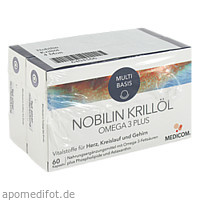 Nobilin Krillöl Omega 3 Plus, 2X60 ST, Medicom Pharma GmbH