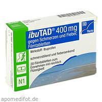 ibuTAD 400mg gegen Schmerzen und Fieber Filmtabl., 20 ST, TAD Pharma GmbH