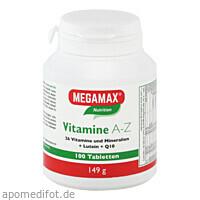 MEGAMAX Vitamine A-Z+Q10+Lutein, 100 ST, Megamax B.V.