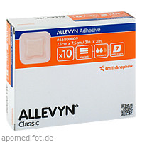 ALLEVYN Adhesive 7.5x7.5cm haftende Wundaufl., 10 ST, Actipart GmbH