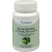 Burma Spirulina mit Chlorella Selen+Zink Floramed, 180 ST, Floramed GmbH