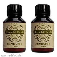 Olivenblatt Extrakt Premium 90% Doppelpack, 2X100 ML, Sinoplasan AG