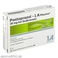 Pantoprazol-1A Pharma 20mg bei Sodbrennen, 14 ST, 1 A Pharma GmbH