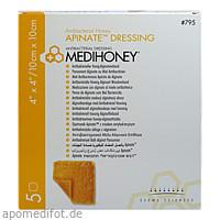 MEDIHONEY APINATE-ALGINATVERBAND 10x10cm, 5 ST, Apofit Arzneimittelvertrieb GmbH