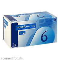 Novofine 6 Kanülen 0.25x6mm 31G, 100 ST, Eurimpharm Arzneimittel GmbH