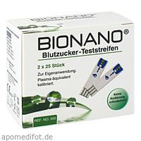Bionano Blutzucker-Teststreifen, 2X25 ST, Imaco GmbH