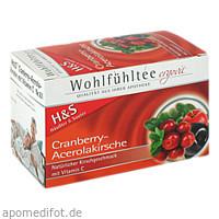 H&S Cranberry-Acerolakirsche, 20X2.8 G, H&S Tee - Gesellschaft mbH & Co.