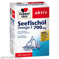 Doppelherz Seefischöl Omega-3 700mg, 120 ST, Queisser Pharma GmbH & Co. KG