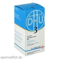 BIOCHEMIE DHU 3 Ferrum phosphoricum D12 Tabl., 420 ST, Dhu-Arzneimittel GmbH & Co. KG