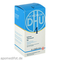 BIOCHEMIE DHU 4 Kalium chloratum D 6 Tabl., 420 ST, Dhu-Arzneimittel GmbH & Co. KG