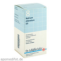 BIOCHEMIE DHU 8 Natrium chloratum D 3 Tabl., 420 ST, Dhu-Arzneimittel GmbH & Co. KG