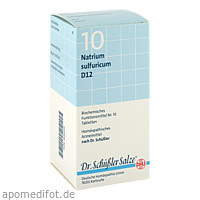 BIOCHEMIE DHU 10 Natrium sulfuricum D12 Tabl., 420 ST, Dhu-Arzneimittel GmbH & Co. KG