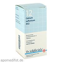 BIOCHEMIE DHU 12 Calcium sulfuricum D12 Tabl., 420 ST, Dhu-Arzneimittel GmbH & Co. KG