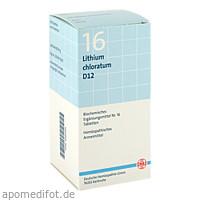 BIOCHEMIE DHU 16 Lithium chloratum D12 Tabl., 420 ST, Dhu-Arzneimittel GmbH & Co. KG