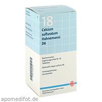 BIOCHEMIE DHU 18 Calcium sulfuratum D 6 Tabl., 420 ST, Dhu-Arzneimittel GmbH & Co. KG