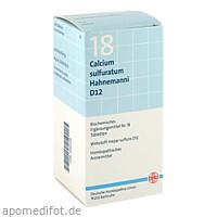 BIOCHEMIE DHU 18 Calcium sulfuratum D12 Tabl., 420 ST, Dhu-Arzneimittel GmbH & Co. KG