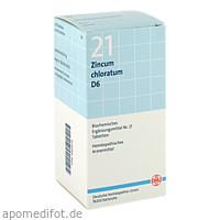 BIOCHEMIE DHU 21 Zincum chloratum D 6 Tabl., 420 ST, Dhu-Arzneimittel GmbH & Co. KG