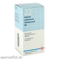 BIOCHEMIE DHU 22 Calcium carbonicum D 6 Tabl., 420 ST, Dhu-Arzneimittel GmbH & Co. KG