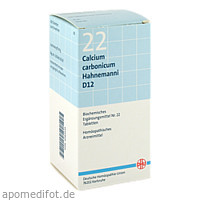 BIOCHEMIE DHU 22 Calcium carbonicum D12 Tabl., 420 ST, Dhu-Arzneimittel GmbH & Co. KG