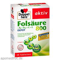 Doppelherz Folsäure 800+B-Vitamine, 40 ST, Queisser Pharma GmbH & Co. KG