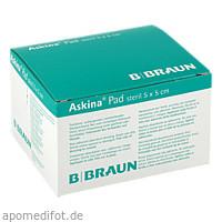 ASKINA Pad Wundauflage 5x5 cm nicht haftend, 25 ST, B. Braun Melsungen AG