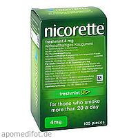 Nicorette 4mg Freshmint, 105 ST, kohlpharma GmbH