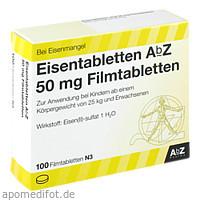 Eisentabletten AbZ 50 mg Filmtabletten, 100 ST, Abz Pharma GmbH