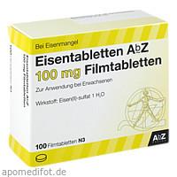 Eisentabletten AbZ 100 mg Filmtabletten, 100 ST, Abz Pharma GmbH