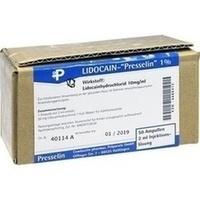 Lidocain-Presselin 1%, 50X2 ML, COMBUSTIN Pharmazeutische Präparate GmbH