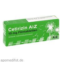 Cetirizin AbZ 10mg Filmtabletten, 20 ST, Abz Pharma GmbH