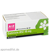 Cetirizin AbZ 10mg Filmtabletten, 100 ST, Abz Pharma GmbH