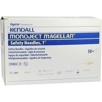 Monoject Magellan Sicherheitskanüle 25x1 orange, 50 ST, Cardinal Health Germany 507 GmbH