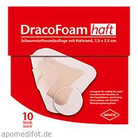 DracoFoam Haft Schaumstoff Wundauflage 7.5x7.5cm, 10 ST, Dr. Ausbüttel & Co. GmbH