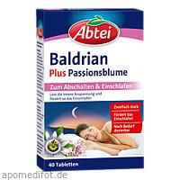 Abtei Baldrian plus Passionsblume, 40 ST, Omega Pharma Deutschland GmbH