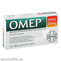 Omep HEXAL 20mg magensaftresistente Tabletten, 14 ST, HEXAL AG
