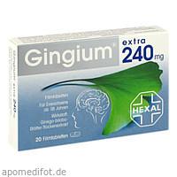 Gingium extra 240mg Filmtabletten, 20 ST, HEXAL AG
