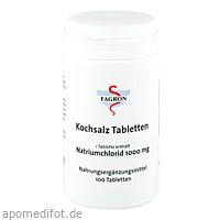 Kochsalz 1000mg Tabletten, 100 ST, Fagron GmbH & Co. KG