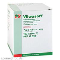 Vliwasoft Schlitzkompresse 7.5X7.5cm, 50X2 ST, Lohmann & Rauscher GmbH & Co. KG