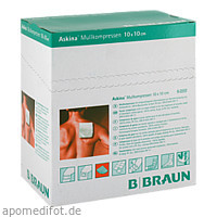 ASKINA MULLKOMPR 10X10CM STERIL, 25X2 ST, B. Braun Melsungen AG
