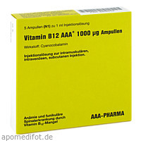 Vitamin B12 AAA 1000ug Amp, 5X1 ML, Aaa - Pharma GmbH