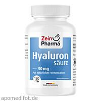 Hyaluronsäure 50mg Caps, 120 ST, Zein Pharma - Germany GmbH