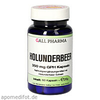 Holunderbeer 350mg GPH Kapseln, 60 ST, Hecht-Pharma GmbH