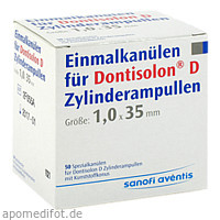 Dontisolon D Einmalkanülen für Zyl.Amp., 50 ST, Sanofi-Aventis Deutschland GmbH