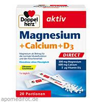 Doppelherz Magnesium + Calcium + D3 direct, 20 ST, Queisser Pharma GmbH & Co. KG