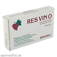 RES VINO Roter Trauben Extrakt Rotweintraubenextra, 60 ST, Bergemed Handelsgesellschaft mbH